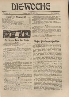 Die Woche : Moderne illustrierte Zeitschrift, 21. Jahrgang, 19. Juli 1919, Nr 29