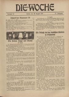 Die Woche : Moderne illustrierte Zeitschrift, 21. Jahrgang, 30. August 1919, Nr 35