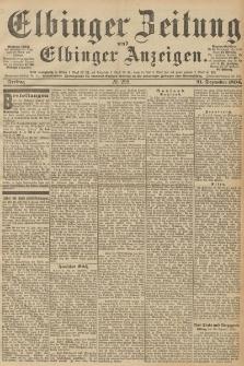 Elbinger Zeitung und Elbinger Anzeigen, Nr. 299 Freitag 21. December 1894