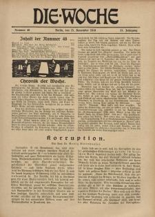 Die Woche : Moderne illustrierte Zeitschrift, 21. Jahrgang, 15. November 1919, Nr 46