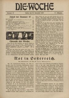 Die Woche : Moderne illustrierte Zeitschrift, 21. Jahrgang, 22. November 1919, Nr 47