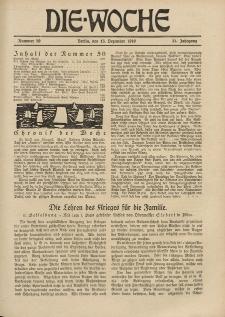 Die Woche : Moderne illustrierte Zeitschrift, 21. Jahrgang, 13. Dezember 1919, Nr 50