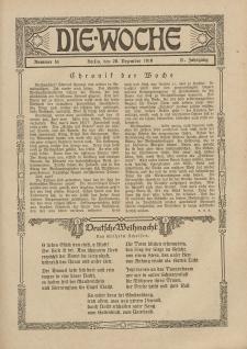 Die Woche : Moderne illustrierte Zeitschrift, 21. Jahrgang, 20. Dezember 1919, Nr 51
