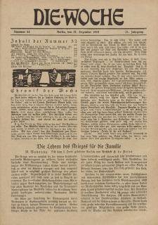Die Woche : Moderne illustrierte Zeitschrift, 21. Jahrgang, 27. Dezember 1919, Nr 52