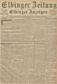 Elbinger Zeitung und Elbinger Anzeigen, Nr. 301 Sonntag 23. December 1894