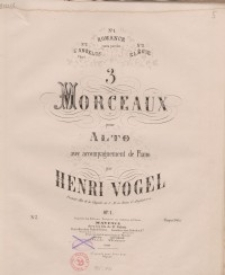 3 Morceaaux pour alto avec accompagnement de piano. Op. 1: No 3