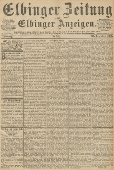 Elbinger Zeitung und Elbinger Anzeigen, Nr. 302 Dienstag 25. December 1894
