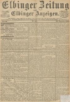 Elbinger Zeitung und Elbinger Anzeigen, Nr. 303 Mittwoch 26. December 1894