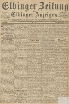 Elbinger Zeitung und Elbinger Anzeigen, Nr. 305 Freitag 28. December 1894