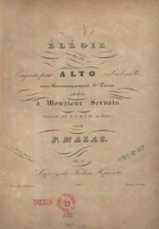 Elégie en ut: composée pour alto ou violoncelle, avec accompagnement de piano. Op. 73.