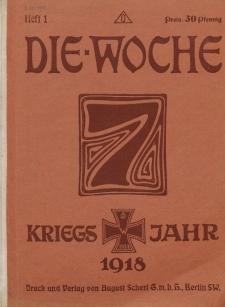 Die Woche, 20. Jahrgang, 5. Januar 1918, Nr 1