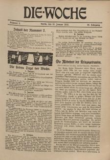 Die Woche, 20. Jahrgang, 12. Januar 1918, Nr 2