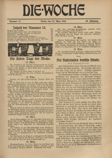 Die Woche, 20. Jahrgang, 23. März 1918, Nr 12