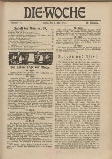 Die Woche, 20. Jahrgang, 4. Mai 1918, Nr 18