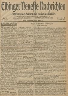 Elbinger Neueste Nachrichten, Nr. 2 Sonnabend 3 Januar 1914 66. Jahrgang