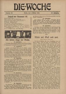 Die Woche, 20. Jahrgang, 5. Oktober 1918, Nr 40