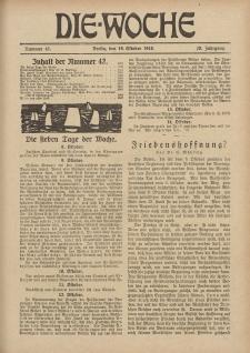 Die Woche, 20. Jahrgang, 19. Oktober 1918, Nr 42