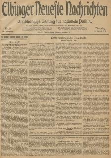 Elbinger Neueste Nachrichten, Nr. 5 Dienstag 6 Januar 1914 66. Jahrgang
