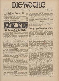 Die Woche, 20. Jahrgang, 14. Dezember 1918, Nr 50