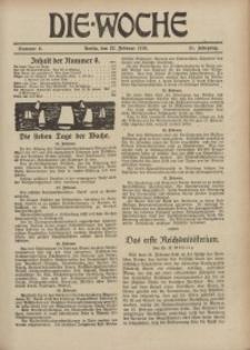 Die Woche : Moderne illustrierte Zeitschrift, 21. Jahrgang, 22. Februar 1919, Nr 8