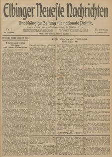 Elbinger Neueste Nachrichten, Nr. 7 Donnerstag 8 Januar 1914 66. Jahrgang