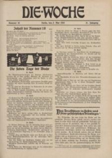 Die Woche : Moderne illustrierte Zeitschrift, 21. Jahrgang, 3. Mai 1919, Nr 18