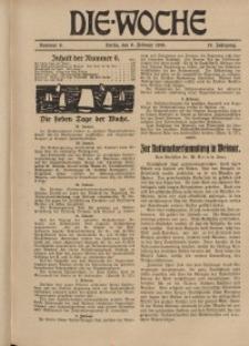 Die Woche : Moderne illustrierte Zeitschrift, 21. Jahrgang, 8. Februar 1919, Nr 6