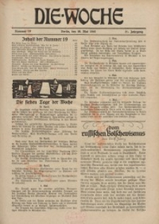 Die Woche : Moderne illustrierte Zeitschrift, 21. Jahrgang, 10. Mai 1919, Nr 19