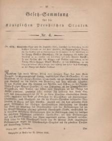 Gesetz-Sammlung für die Königlichen Preussischen Staaten, 21. Februar, 1866, nr. 4.