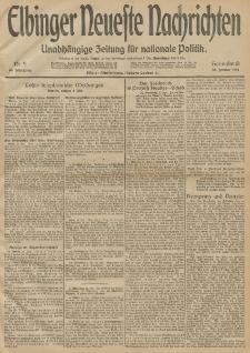 Elbinger Neueste Nachrichten, Nr. 9 Sonnabend 10 Januar 1914 66. Jahrgang
