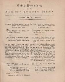 Gesetz-Sammlung für die Königlichen Preussischen Staaten, 10. März, 1866, nr. 7.