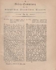 Gesetz-Sammlung für die Königlichen Preussischen Staaten, 19. März, 1866, nr. 8.