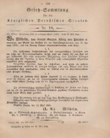 Gesetz-Sammlung für die Königlichen Preussischen Staaten, 13. Mai, 1866, nr. 18.