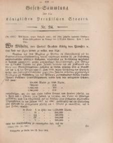 Gesetz-Sammlung für die Königlichen Preussischen Staaten, 12. Juni, 1866, nr. 24.