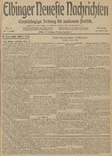 Elbinger Neueste Nachrichten, Nr. 11 Montag 12 Januar 1914 66. Jahrgang