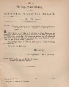 Gesetz-Sammlung für die Königlichen Preussischen Staaten, 30. Juni, 1866, nr. 29.