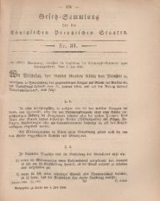 Gesetz-Sammlung für die Königlichen Preussischen Staaten, 6. Juli, 1866, nr. 31.