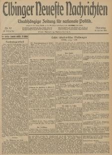 Elbinger Neueste Nachrichten, Nr. 12 Dienstag 13 Januar 1914 66. Jahrgang