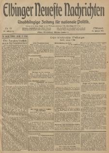 Elbinger Neueste Nachrichten, Nr. 13 Mittwoch 14 Januar 1914 66. Jahrgang