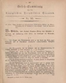 Gesetz-Sammlung für die Königlichen Preussischen Staaten, 13. Oktober, 1866, nr. 52.
