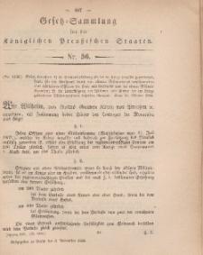 Gesetz-Sammlung für die Königlichen Preussischen Staaten, 3. November, 1866, nr. 56.