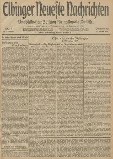 Elbinger Neueste Nachrichten, Nr. 14 Donnerstag 15 Januar 1914 66. Jahrgang