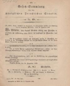 Gesetz-Sammlung für die Königlichen Preussischen Staaten, 31. Dezember, 1866, nr. 68.
