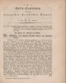 Gesetz-Sammlung für die Königlichen Preussischen Staaten, 14. Februar, 1860, nr. 5