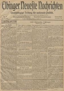 Elbinger Neueste Nachrichten, Nr. 16 Sonnabend 17 Januar 1914 66. Jahrgang