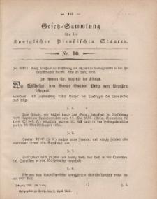 Gesetz-Sammlung für die Königlichen Preussischen Staaten, 7. April, 1860, nr. 10