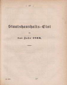 Gesetz-Sammlung für die Königlichen Preussischen Staaten, (Staatshaushalts-Etat füf das Jahr 1860)