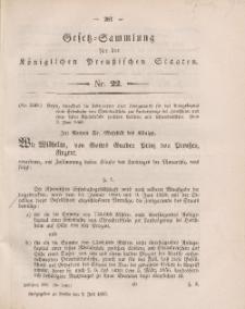 Gesetz-Sammlung für die Königlichen Preussischen Staaten, 2. Juli, 1860, nr. 22