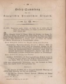 Gesetz-Sammlung für die Königlichen Preussischen Staaten, 14. Juli, 1860, nr. 23