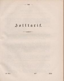 Gesetz-Sammlung für die Königlichen Preussischen Staaten (Zolltarif), 1860